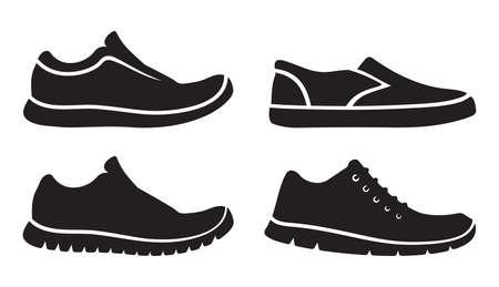 zapato: Correr zapatos iconos