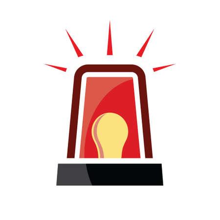 emergency light: Red siren - emergency light