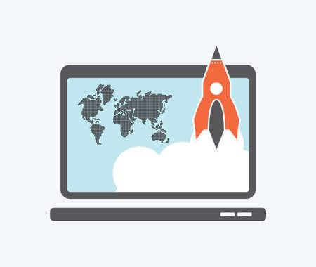 launching: Start up icon Illustration