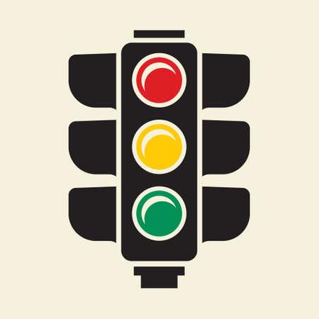 Traffic light sign Illustration