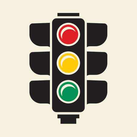 Traffic light sign Illustration