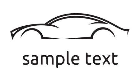 Tarjeta de vector de la silueta del coche