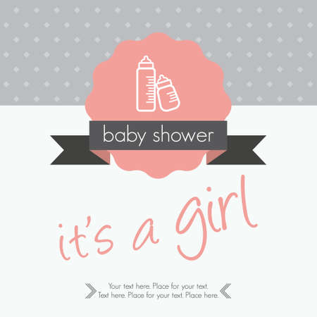 baby announcement card: baby girl announcement card