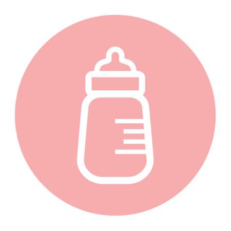 single  object: Baby milk bottle icon