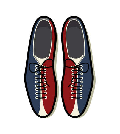 Bowling shoes icon Illustration