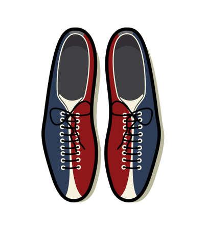 bolos: Zapatos de bowling icono Vectores