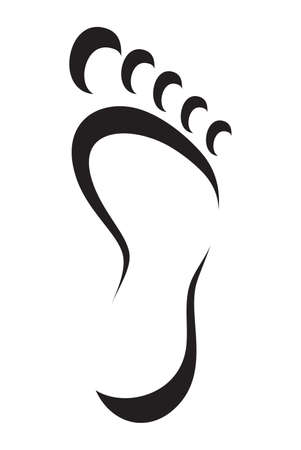foot symbol Illustration