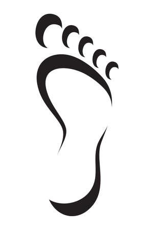 foot symbol Stock Illustratie