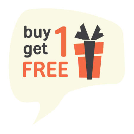 get one: Buy one get one free Illustration