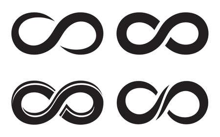 Infinity icons Stock Illustratie