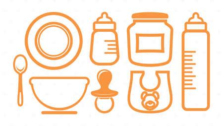 milk bottle: Baby icons