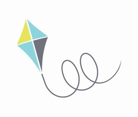 papalote: Kite ilustración