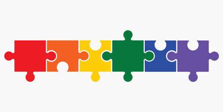 Lgbt puzzle concept Illustration