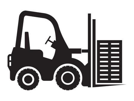 lift truck: Lift truck icon Illustration
