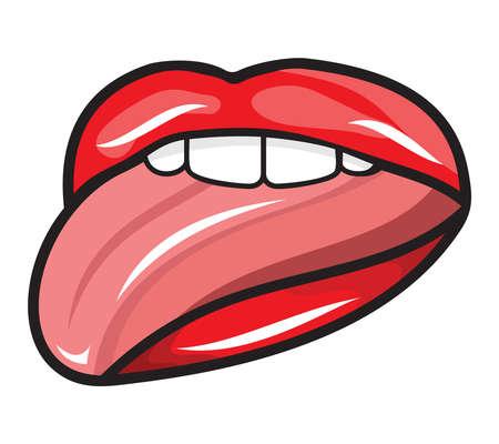 Licking lips illustration