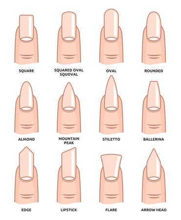 Different nail shapes - Fingernails fashion Trends Reklamní fotografie - 38127090