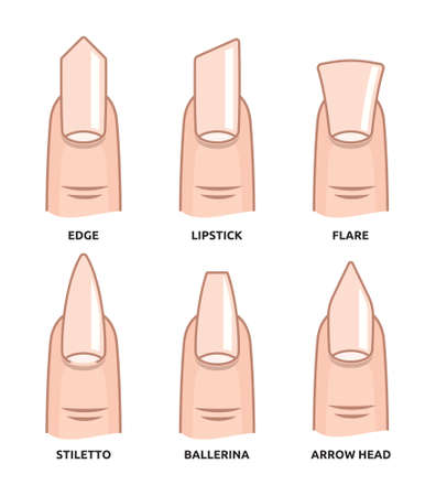 french manicure: Different nail shapes - Fingernails fashion Trends