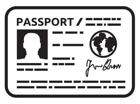 citizenship: Passport icon