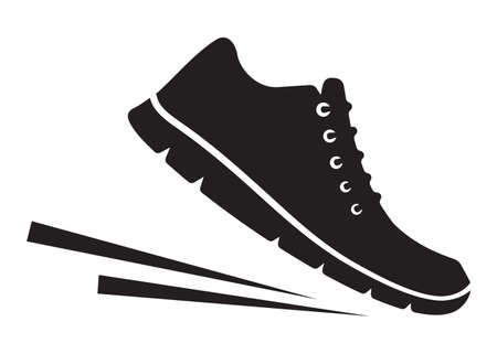 walking shoes: Running shoes icons