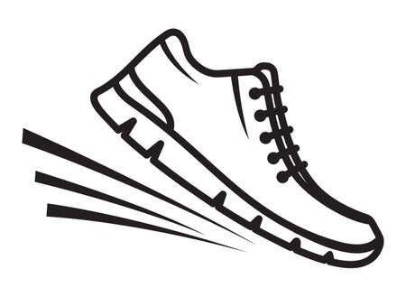 Laufschuhe Symbole Standard-Bild - 38127618