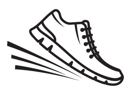 Running shoes icons