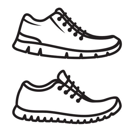 15 516 running shoes cliparts stock vector and royalty free running rh 123rf com free clipart images running shoes running shoes clipart black and white