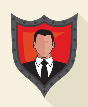 security protection: Security - protection flat icon Illustration