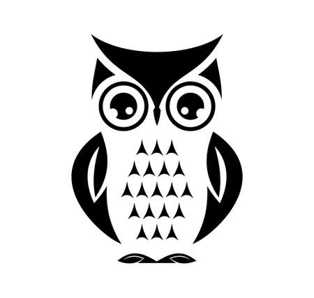 Cute owl Stock Illustratie