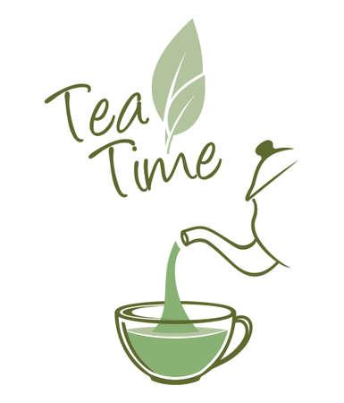 お茶の時間  イラスト・ベクター素材