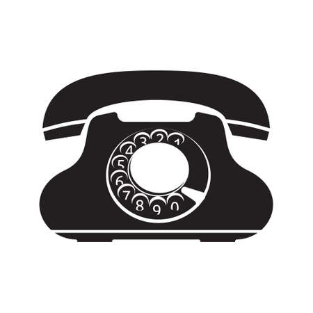rotary: Old telephone icon