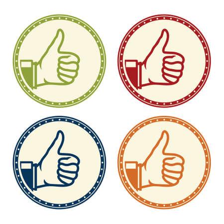 ok thumbs up icon Illustration