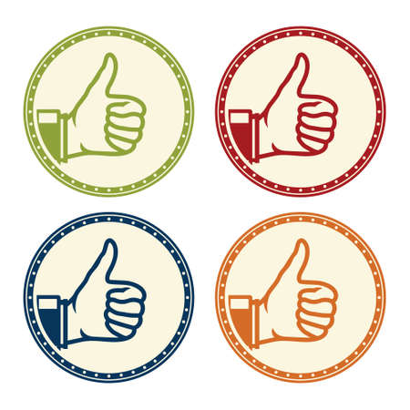 ok thumbs up icon Vectores