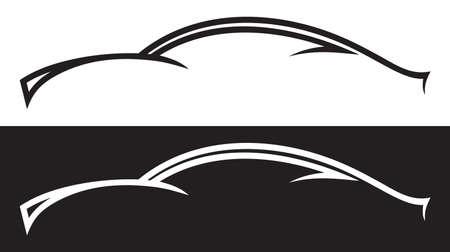 car drawing: Car line art Illustration