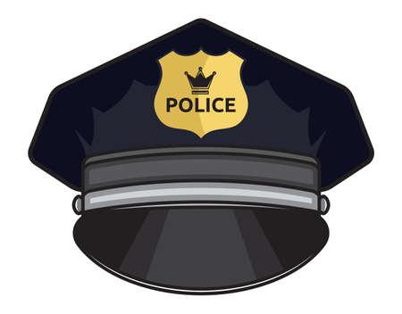 Police cap illustration