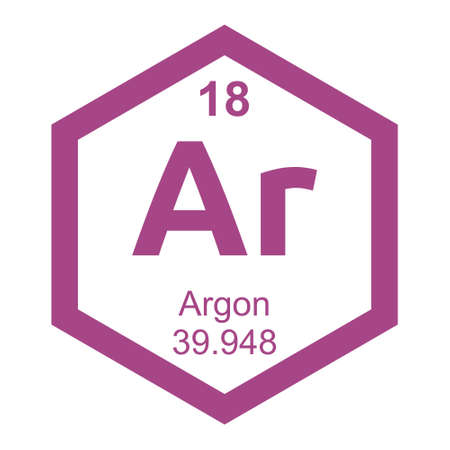 argon: Periodic table Argon Illustration