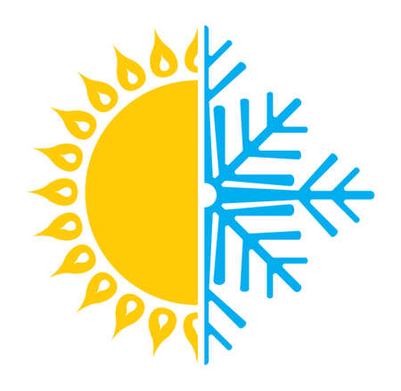 Airconditioning pictogram zomer winter Stockfoto - 41503159