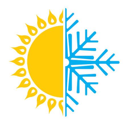 Air conditioning icon  summer winter Illustration