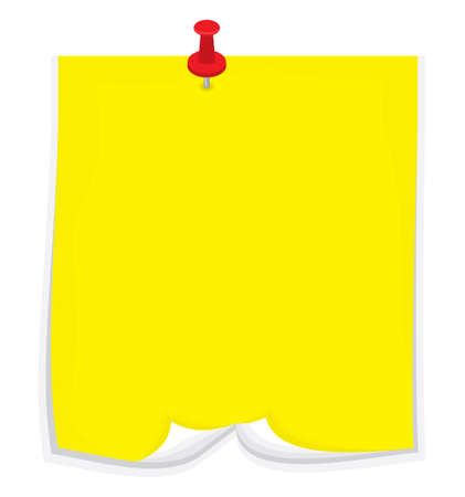 memo pad: Vector sticky note