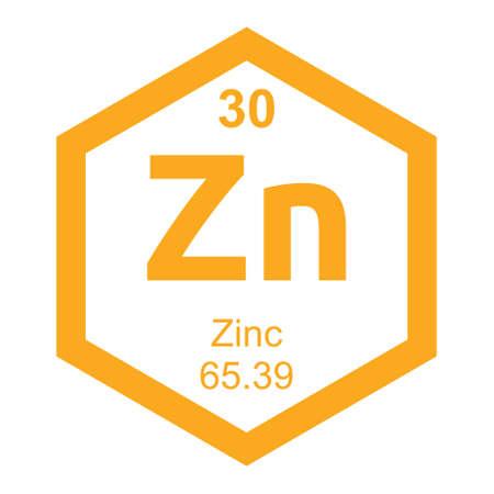 Periodensystem Zinc Standard-Bild - 41503343