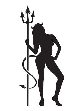 diavoli: donna del diavolo Vettoriali