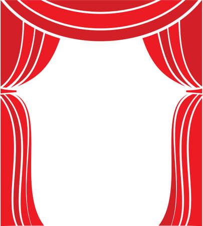 classic art: Curtain stage illustration Illustration