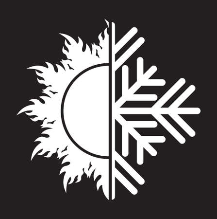 coolness: Air conditioning icon  summer winter Illustration