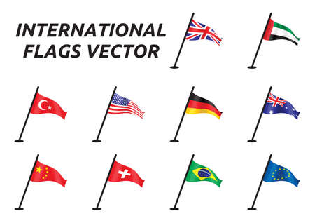 country flags: International vector flags Illustration