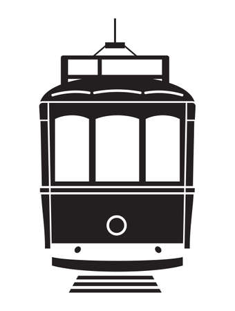 Lisbon tramway vector icon