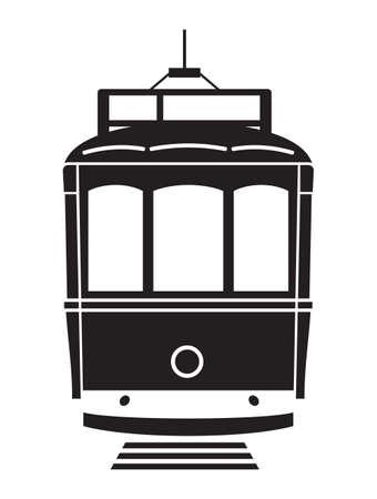 tramway: Lisbona tram vector icon