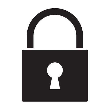 padlock icon: Lock icon Illustration