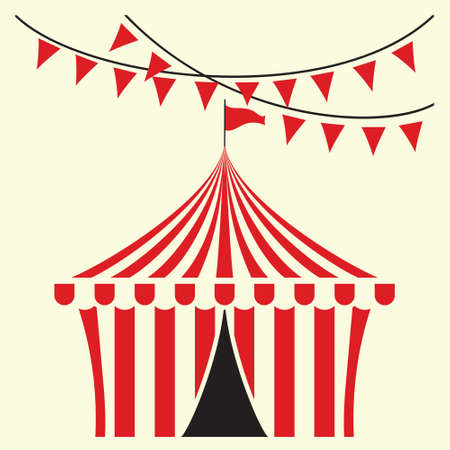 marquee tent: Circus tent illustration