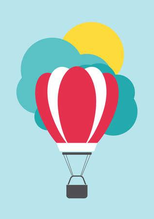 air: Air balloon card template Illustration