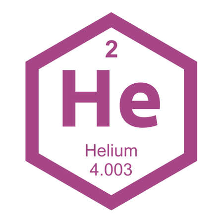 electrons: Periodic table Helium Illustration