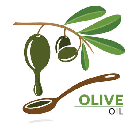 europe closeup: Olive oil illustration Illustration